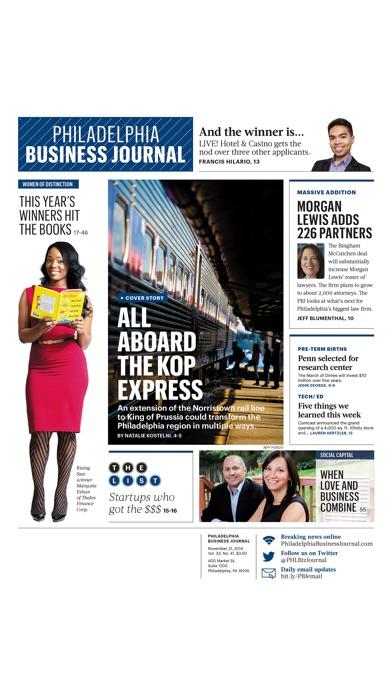 Philadelphia Business Journal review screenshots