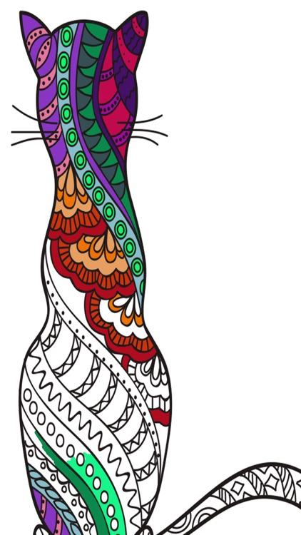 Cats mandalas coloring book for adults - Premium