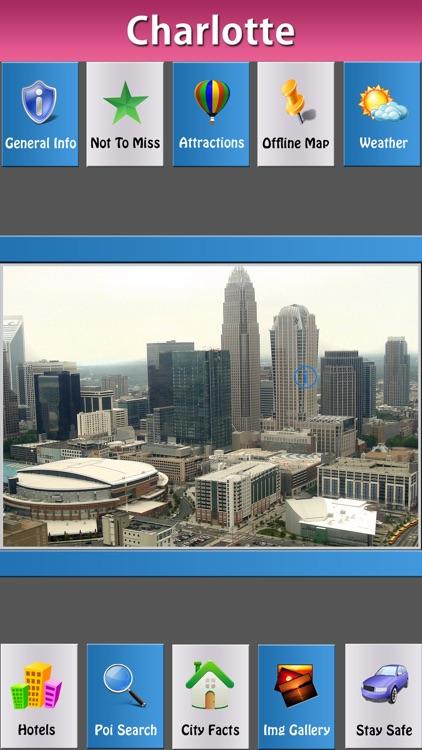Charlotte Offline Map Travel Guide