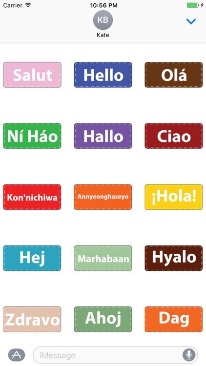Say Hello - Multi Lingo Animated Stickers