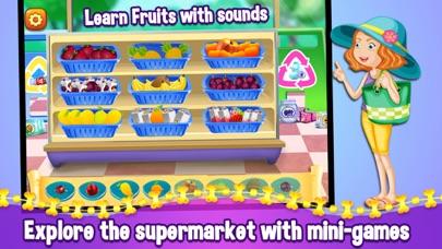 Kids Supermarket Shopping Adventure - Learn Fruits & Vegetables screenshot two