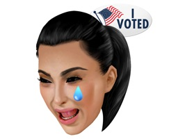Kim Kardashian West's Official Presidential KIMOJI app gives you access to the original pack of stickers and GIFs