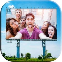 Photo frames billboards ads