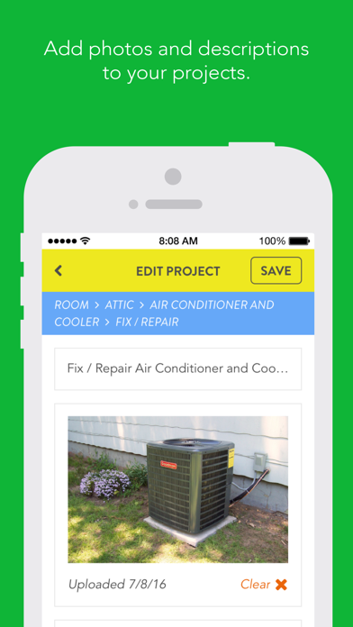 Feather. A smarter place for all of your home projects. screenshot four