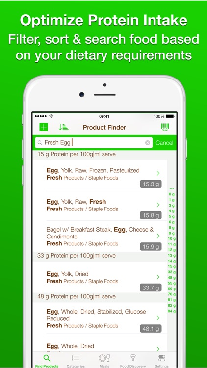 Protein-Check: Discover Top High Protein Rich Foods List for the best Power Diet screenshot-4