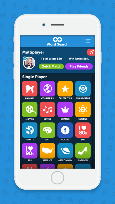 Infinite Word Search Puzzles app image