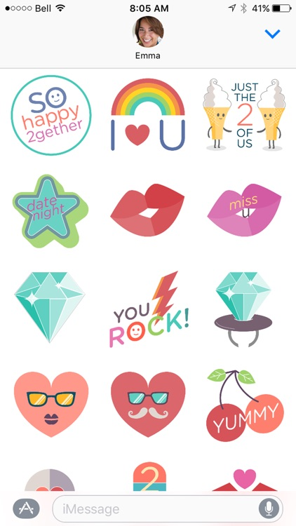 2life Stickers for Couples