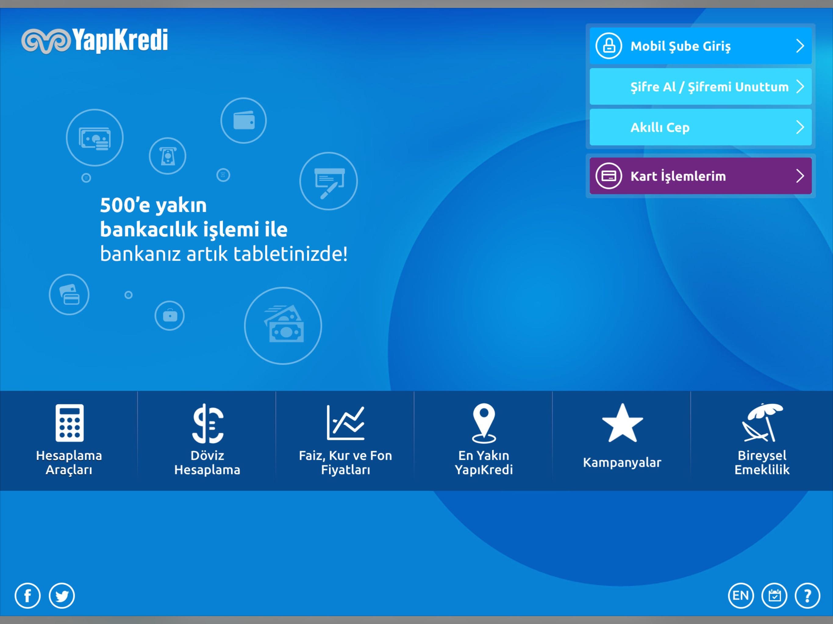 Yapı Kredi Mobil Şube Screenshot