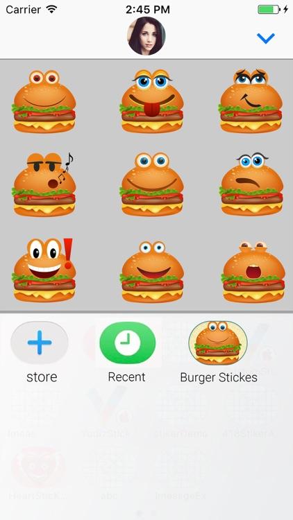 Animated Burger Emoji Stickers screenshot-3