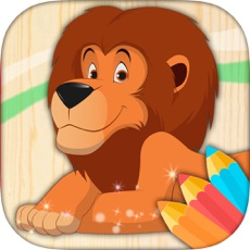 Activities of Learning game to paint animals, color for children