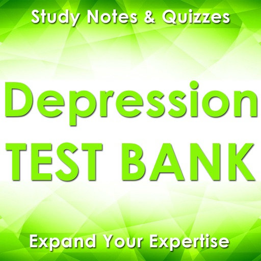 Depression Exam Review App : Study Notes & Quizzes
