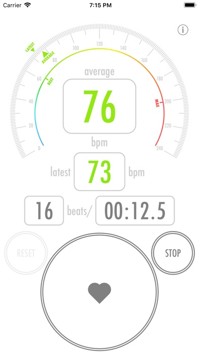 Heart Rate Counter Screenshots
