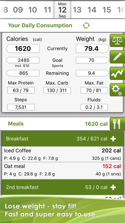 CaloryGuard - Track calories, lose weight