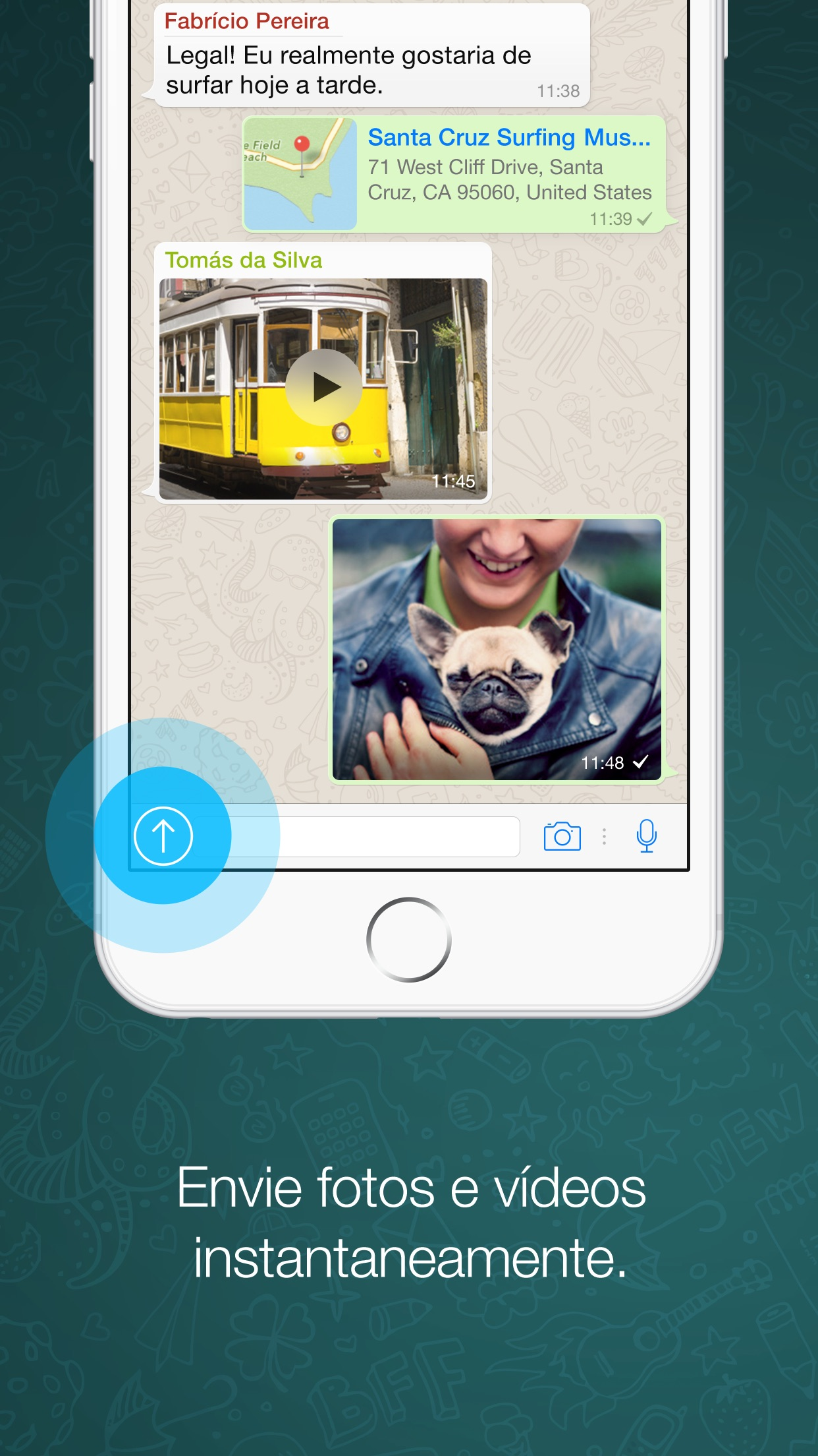 Screenshot do app WhatsApp Messenger