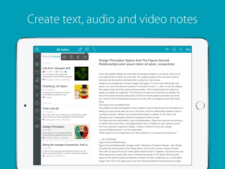 Nimbus Note HD - Notes, To-Do list and Web-Clipper
