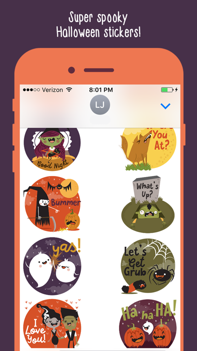 Spooky Cute Halloween Emoji Stickers