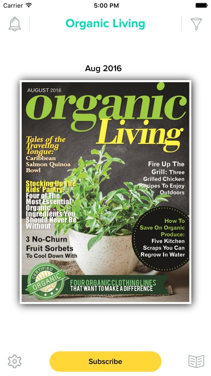 Organic Living Magazine screenshot-0