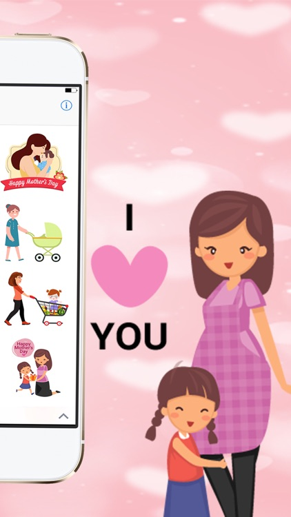 Happy Mother Day Mom emoji screenshot-4