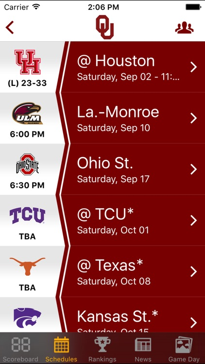 Big 12 Football Schedules & Scores screenshot-3
