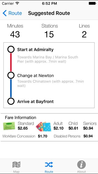 Singapore MRT LRT Offline App Report on Mobile Action - App