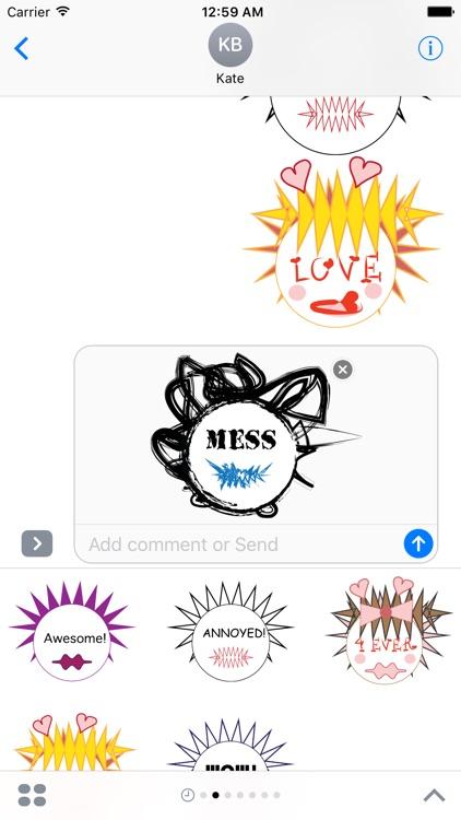 Emotional Emoji Creatures Free Sample Stickers