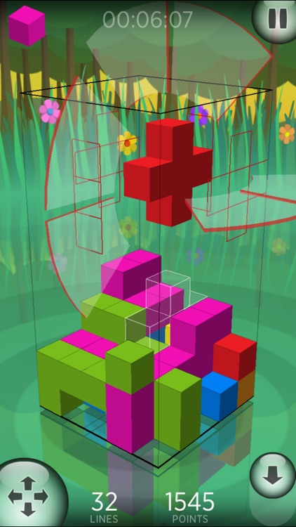 Fragmental 3D Lite - Build Lines with Falling Blocks! screenshot-0