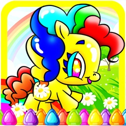 My Pony Coloring Game For Girl and Little Kids