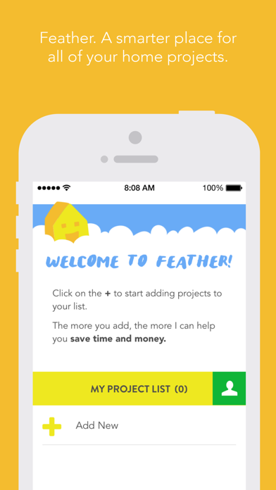 Feather. A smarter place for all of your home projects. screenshot two