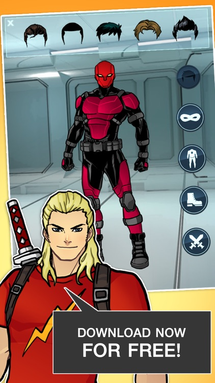 Super Hero Games - Create A Character Boys Games 2 screenshot-3