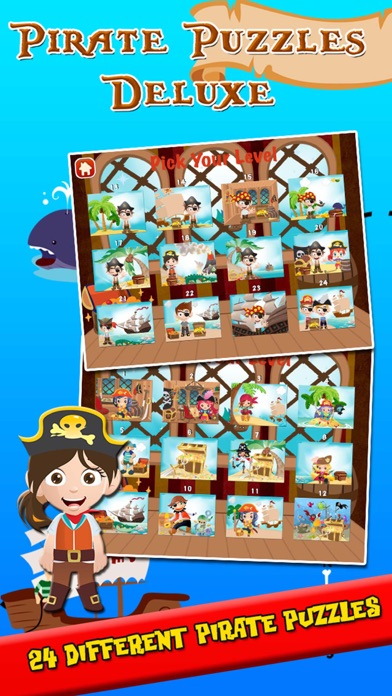 Pirate Puzzles: Jigsaw Puzzles for Kids Deluxe screenshot one