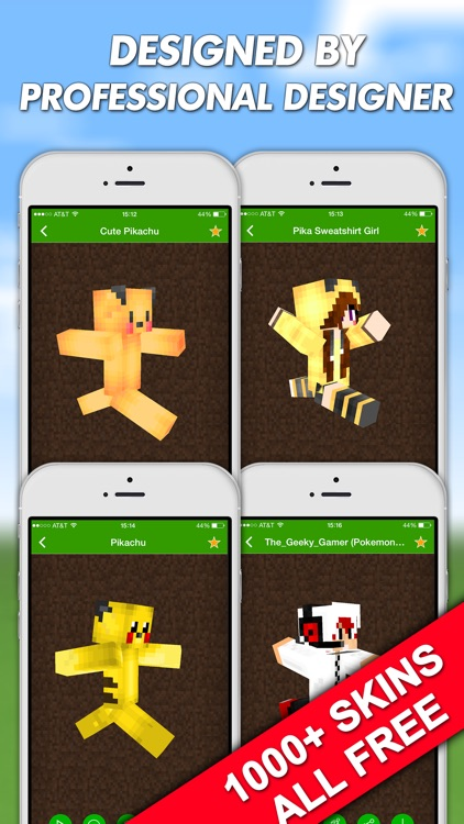 Skins for Minecraft PE (Pocket Edition) & PC Free - for Pokemon