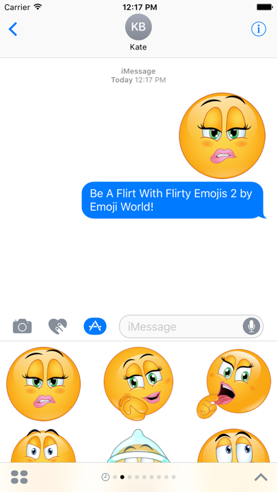 Flirty Emojis 2 - Be A Flirt! Stickers screenshot one