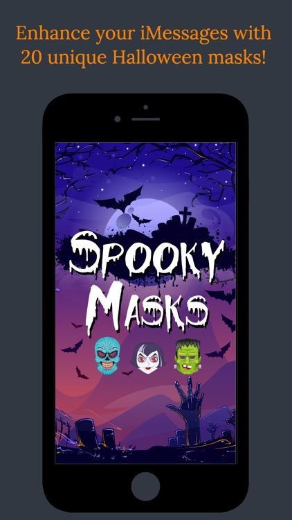 Spooky Masks - Halloween Stickers For Your Photos! screenshot-0