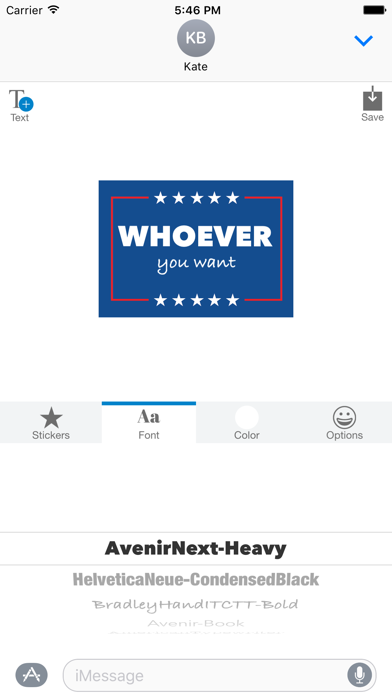 Election 2016 - MYOSE: Make Your Own Sticker Emoji screenshot four