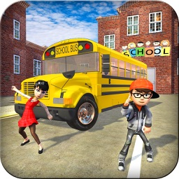 Crazy School Bus Transport Sim