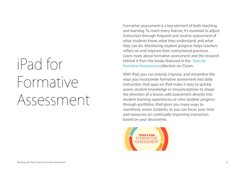 Tools For Formative Assessment By Apple Education On Apple Books