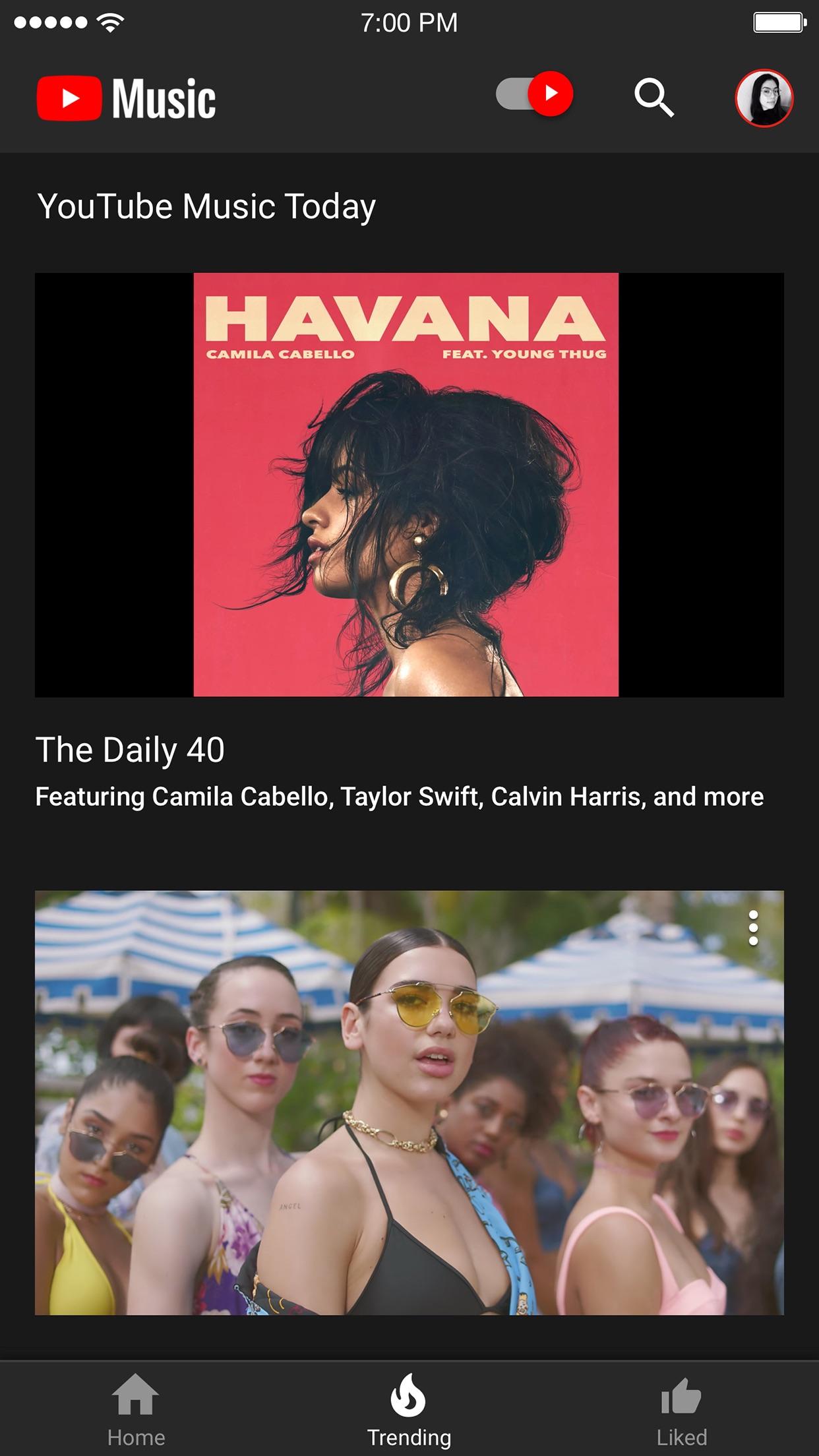 YouTube Music Screenshot