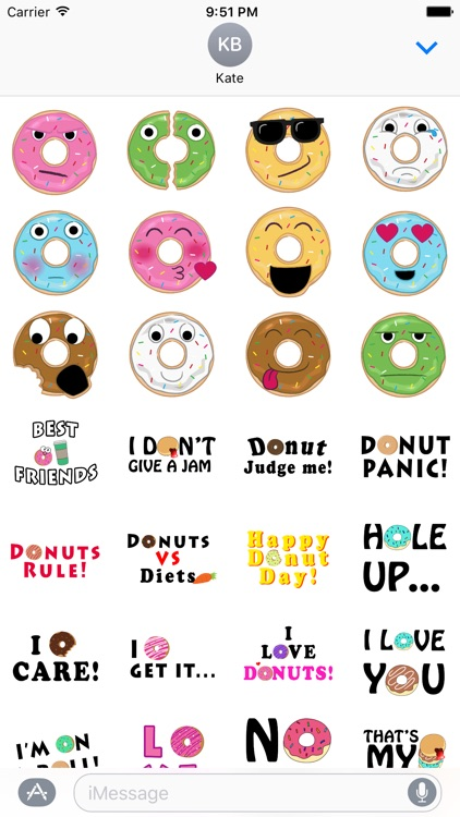 Donut Indulgence Stickers