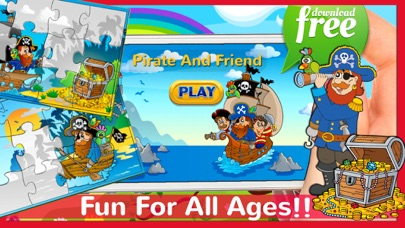 Pirate & Friend Jigsaw Puzzles For Kids & Toddlers