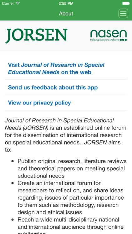 Journal of Research in Special Educational Needs