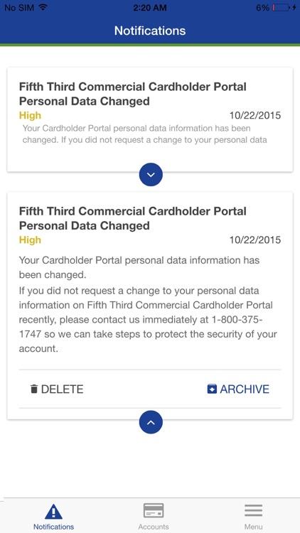 Fifth Third Commercial Card screenshot-3