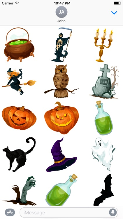 Crazy Halloween Sticker for iMessage #8