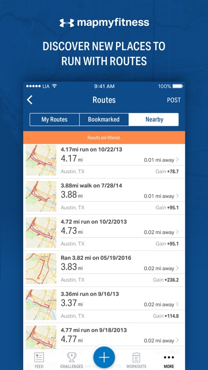 Map My Fitness - GPS Workout Trainer & Tracker app image