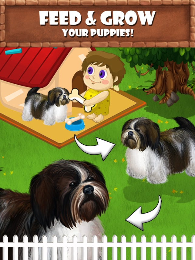 Puppy Care - puppies feed, breed, battle pet games on the