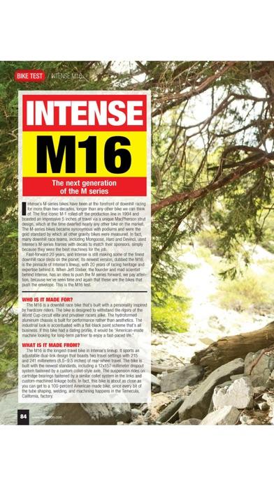 Screenshot for Mountain Bike Action Magazine in Peru App Store