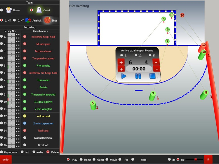 THSAExtreme Handball Shot Analysis Statistics