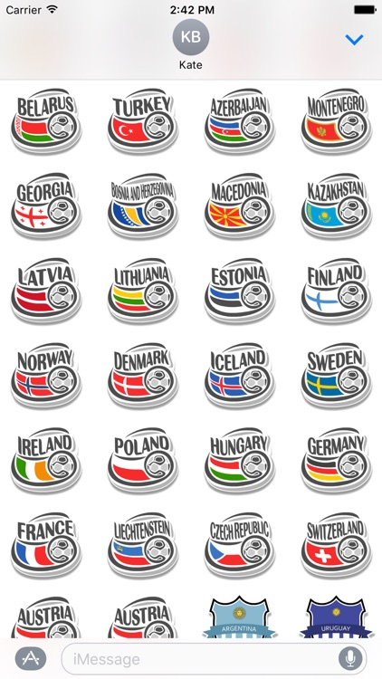 Real Football Stickers