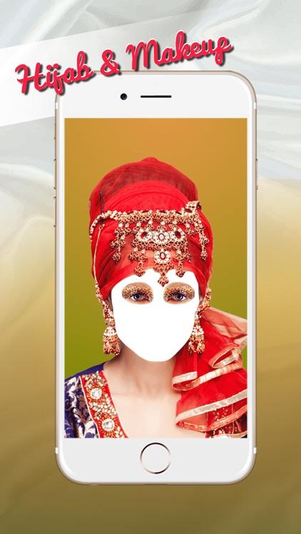 Hijab Style.s & Makeup Frame.s - Muslim Dress Up screenshot-3