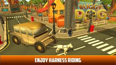 Drive Dog Buggy Taxi:  Dog Cart driving simulation screenshot one