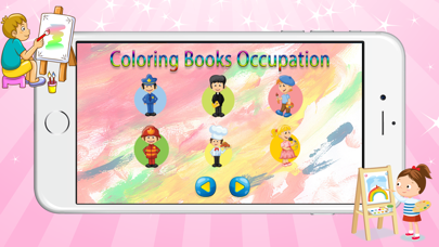 Paint & Drawing Coloring Books Occupation for kids screenshot three